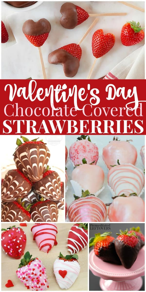 Valentine's Day chocolate covered strawberry recipes. Make one of these delicious chocolate-dipped strawberries for your Valentine!