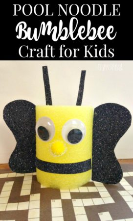 Pool Noodle Bumblebee Craft for kids