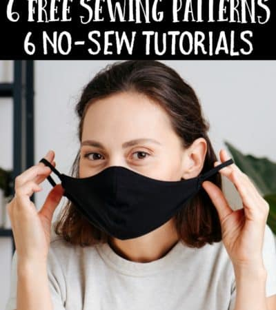 homemade face masks using sewing patterns and no-sew tutorials