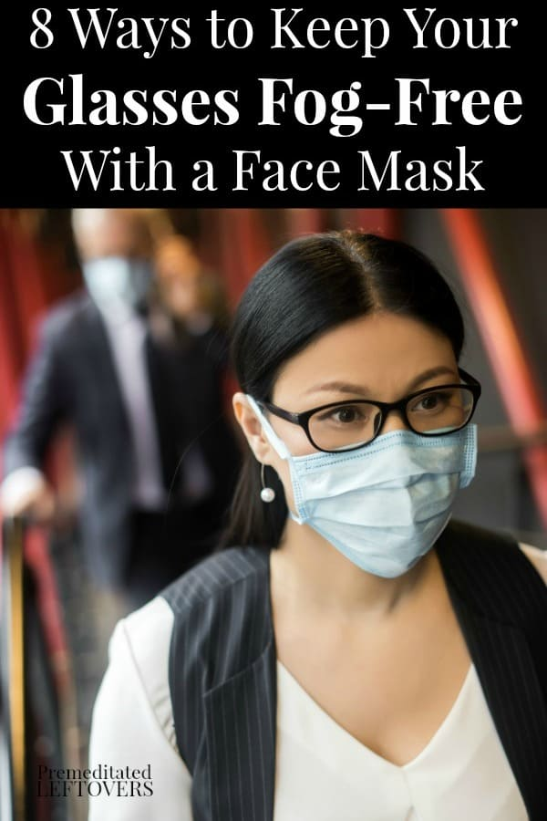 lady wearing a mask without fogging up her glasses