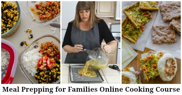 meal prepping for families online cooking course