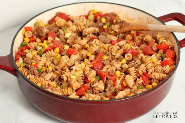 chipotle pasta skillet recipe