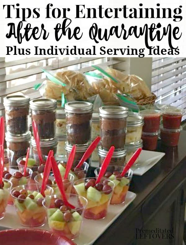 Individual food serving ideas for entertaining after the quarantine is over.