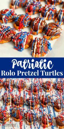 patriotic rolo pretzel turtles recipe