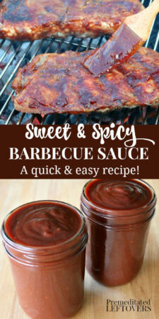 quick and easy homemade bbq sauce recipe that is both sweet and spicy