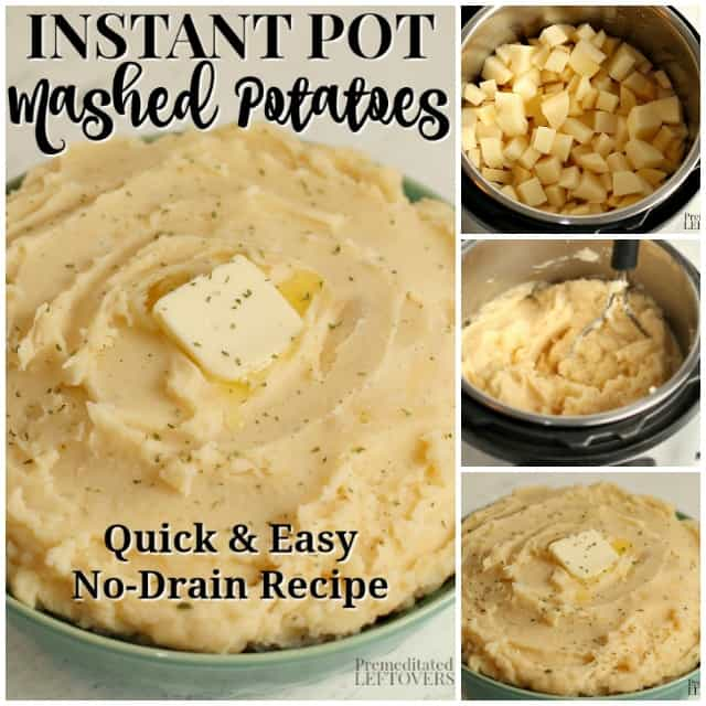step by step pictures of how to make mashed potatoes in an Instant Pot.
