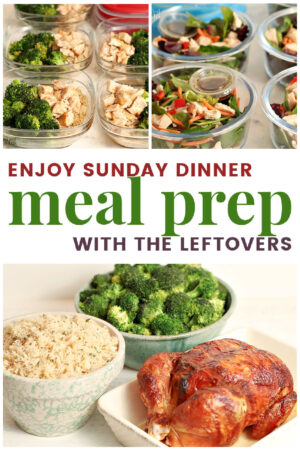 chicken dinner with meal prep lunches ideas from the leftovers