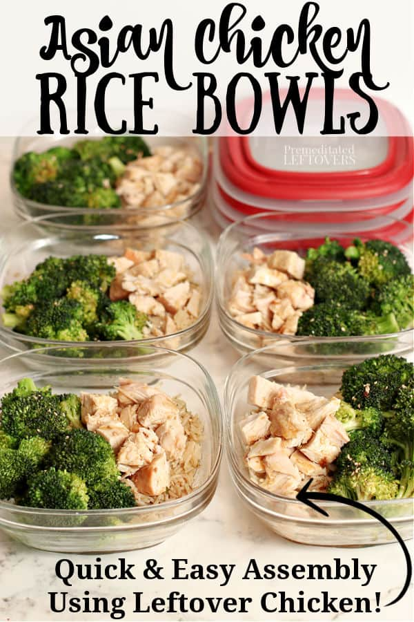 Asian Chicken and Rice Bowls with Broccoli