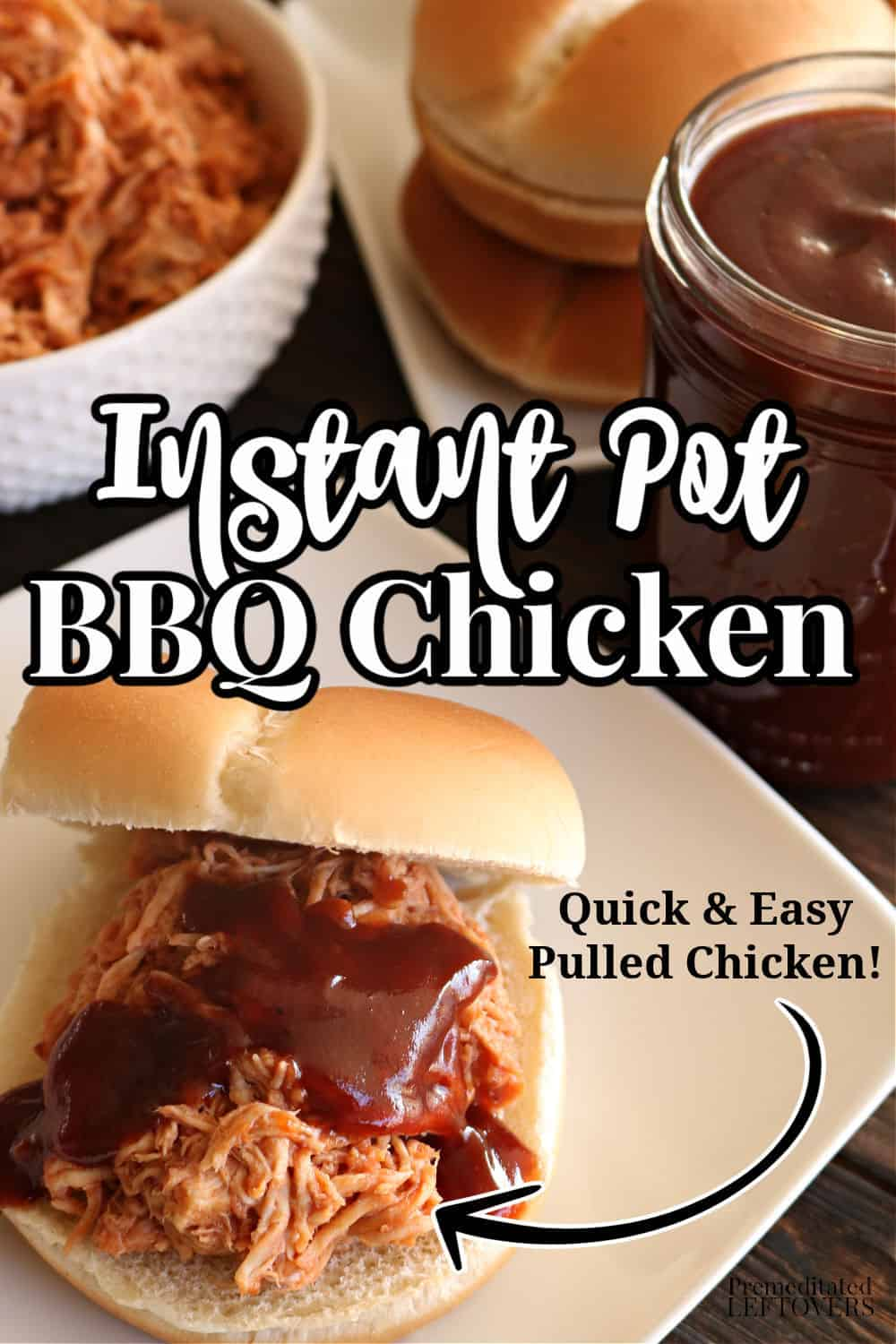 This Instant Pot BBQ Chicken recipe is a quick and easy way to make Pulled BBQ Chicken! Instant Pot Barbecue Chicken can be shredded or served as whole pieces. Use chicken breasts or boneless thighs to make this simple recipe.