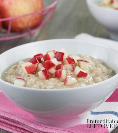 easy sugar-free oatmeal recipe with fresh fruit